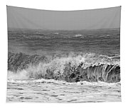 Iceland Black Sand Beach Wave One  Tapestry