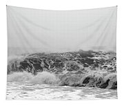 Iceland Black Sand Beach Wave Three Tapestry