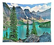 Iconic Banff National Park Attraction Tapestry