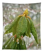Icy Leaves Tapestry