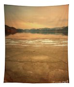 Icy Sunset Tapestry