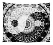 Ideal Balance Black And White Yin And Yang By Sharon Cummings Tapestry