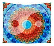 Ideal Balance Yin And Yang By Sharon Cummings Tapestry