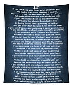 If Poem Blue Canvas Tapestry