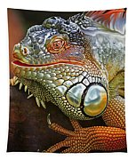 Iguana Full Of Color Tapestry