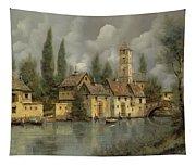 Il Borgo Sul Fiume Tapestry