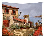 Il Giardino Rosso Tapestry