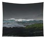 Illuminated Breaking Wave Tapestry