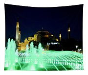 Illuminated Fountain Of Istanbul Tapestry