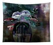 Impatient Painterly Floral Tapestry