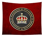 Imperial Tudor Crown Over Red Velvet Tapestry