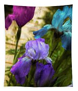 Impossible Irises Tapestry
