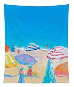 Impressionist Beach Painting Tapestry
