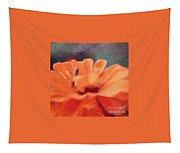 Impressionist Painting Of An Orange Mum Tapestry