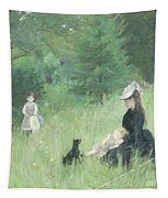 In A Park Tapestry by Berthe Morisot