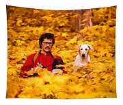 In A Yellow Wood - Paint Tapestry