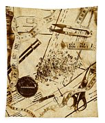 In Fashion Of Vintage Sewing Tapestry