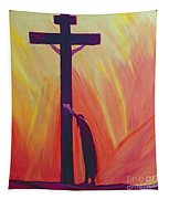 In Our Sufferings We Can Lean On The Cross By Trusting In Christ's Love Tapestry