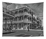 In The French Quarter - 3 Bw Tapestry