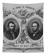 In Union Is Strength - Ulysses S. Grant And Schuyler Colfax Tapestry by War Is Hell Store
