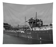 Inbound To Severstal - Black And White Tapestry