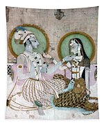 India: Couple Tapestry