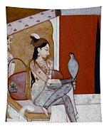 India: Lady & Hawk, C1570 Tapestry