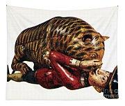 India: Tiger Attack Tapestry
