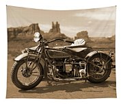 Indian 4 Sidecar Tapestry