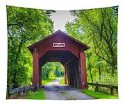 Indian Camp Covered Bridge Tapestry