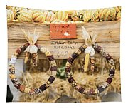 Indian Corn Wreaths Tapestry