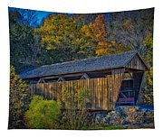 Indian Creek Covered Bridge In Fall Tapestry