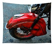 Indian Motorcycle Fender In Red Tapestry