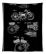 Indian Motorcycle Patent 1943 Black Tapestry