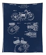 Indian Motorcycle Patent 1943 Blue Tapestry