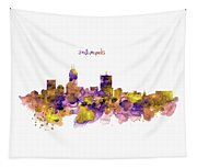 Indianapolis Skyline Silhouette Tapestry