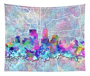 Indianapolis Skyline Watercolor 5 5 Tapestry