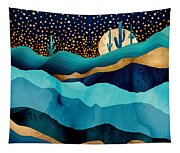 Indigo Desert Night Tapestry