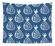 Indigo Pineapple Party Tapestry