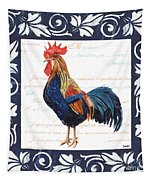 Indigo Rooster 2 Tapestry