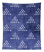 Indigo Triangles 2- Art By Linda Woods Tapestry