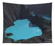 Indonesian Crater Lakes Tapestry