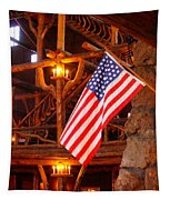 Interior Of Old Faithful Inn Tapestry