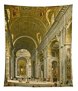 Interior Of St. Peter's - Rome Tapestry