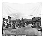 Intersection Of Alvarado And Calle Principal St.s, Monterey Circa 1940 Tapestry