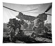 Into Battle - Charcoal Tapestry
