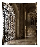 Intricate Ironwork - Lacy Wrought Iron Gates Tapestry