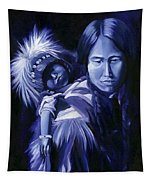 Inuit Mother And Child Tapestry