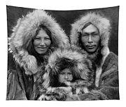Inupiat Family Portrait - Alaska 1929 Tapestry