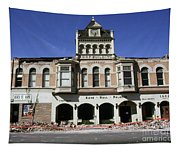 Watsonville I. O. O. F. Building Built In 1893  Damaged By The Loma Prieta Earthquake 1989 Tapestry